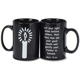 Candle, Let Your Light Shine Mug