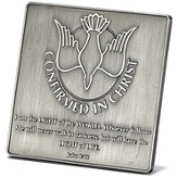 Confirmed In Christ Tabletop Plaque
