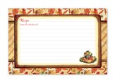 Autumn Harvest Recipe Cards