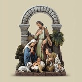 Holy Family with Shepherd and Sheep Figure