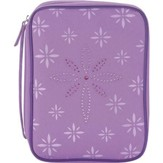 Bedazzled Cross Bible Cover, Purple, Medium