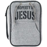 Property Of Jesus Bible Cover, Gray, Medium