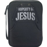 Property Of Jesus Bible Cover, Black, Medium