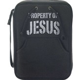 Property Of Jesus Bible Cover, Black, Large