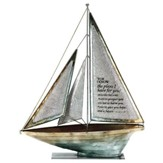 For I Know the Plans Metal Sailboat, Large