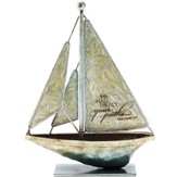 He Shall Direct Your Paths Metal Sailboat, Small