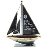 I Am the Way Metal Sailboat, Small