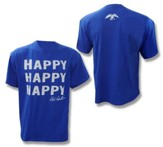 Duck Dynasty, Happy Happy Happy Shirt, Blue, XXX-large