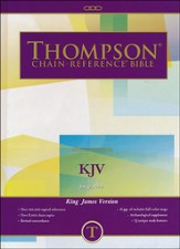 KJV Thompson Chain-Reference Bible, Large Print, Hardcover,  Thumb Indexed