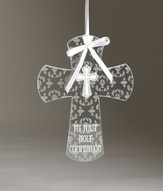 My First Holy Communion Wall Cross with Cross Embellishment