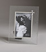 Wedding Photo Frame with Cross Embellishment