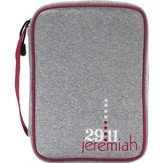 Jeremiah 29:11 Bible Cover, Gray, Large