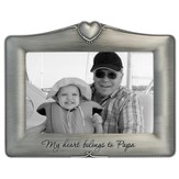 My Heart Belongs To Papa Photo Frame