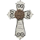 Where You Go, I Will Go, Burlap Rose Wall Cross