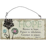 Hope, Rejoice In Hope Wall Plaque