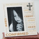 Confirmation Photo Frame with Cross, Typographic
