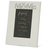 Mr. and Mrs. Mirror Photo Frame