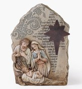 Nativity, Table Top, with Metal Star