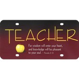 Teacher License Plate