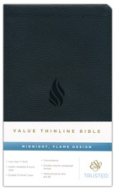 ESV Thinline Value Edition, TruTone, Midnight, Flame Design