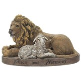 Peace and Harmony, Lion and Lamb Figurine