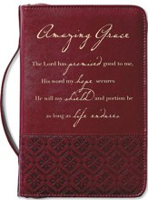 Amazing Grace Italian Duo-Tone Rich Red Cover, Large