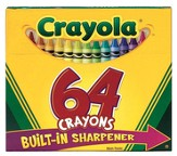 Crayons with Sharpener, Box of 64