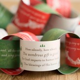 Christmas Hymns Paper Garland