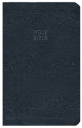 KJV Giant-Print Personal-Size Reference Bible--bonded leather, blue