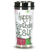 Happy Birthday Jesus Travel Mug