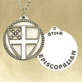 Episcopal Shield Pendant with Chain