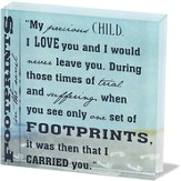 Footprints Glass Block