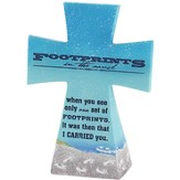 Footprints Tabletop Cross