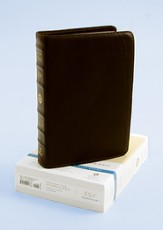 ESV Personal Size Reference Bible, Genuine Lambskin, Deep Brown