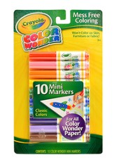 Crayola, Color Wonder Mini Markers, Classic Colors