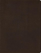 ESV 2-Column Journaling Bible, Mahogany Brown - Genuine Leather