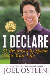 I Declare:  31 Promises to Speak Over Your Life       , Largeprint
