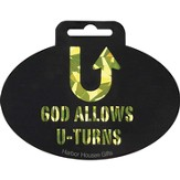 God Allows U Turns Decal Sticker