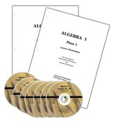 Math Relief! Algebra 1 DVD Course with Lesson  Worksheets