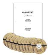 Math Relief! Geometry DVD Course with Lesson  Worksheets