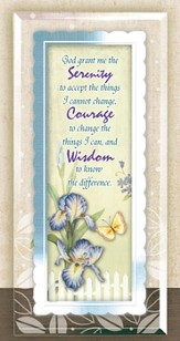 Serenity Prayer Framed Sentiment