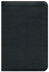 ESV Personal-Size Study Bible-genuine leather,  black