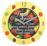 Fruit Of the Spirit Wall Clock, Canvas