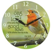 Sing To the Lord Wall Clock, Canvas