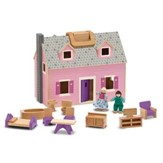 Fold & Go Wooden Dollhouse