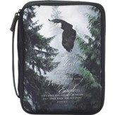 Wings As Eagles Bible Cover, Black, Large