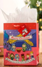 Peanuts Pageant Gift Bag, Medium
