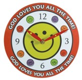 God Loves You All the Time Wall Clock, Canvas