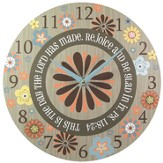 Rejoice and Be Glad Wall Clock, Canvas