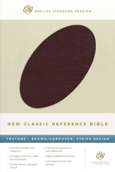 ESV New Classic Reference Bible, Genuine leather, burgundy